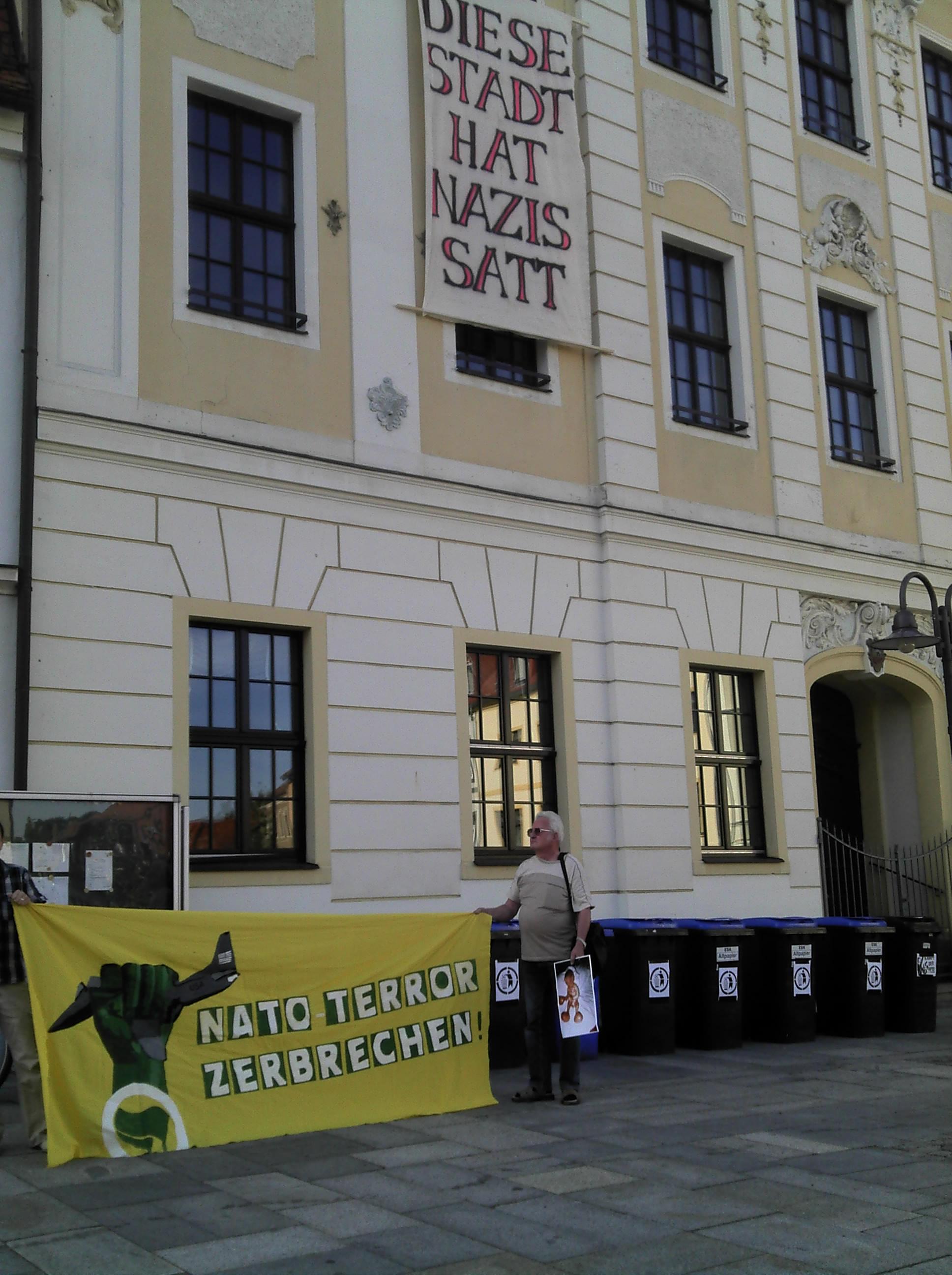 Rathaus Radeberg Nazi Transparent